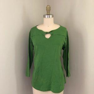 Rafaella Woman Size 1X Kelly Green T Shirt Blouse